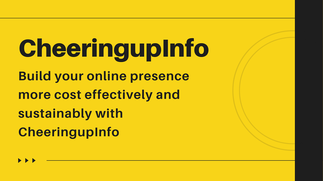 How to create a professional online presence with CheeringupInfo